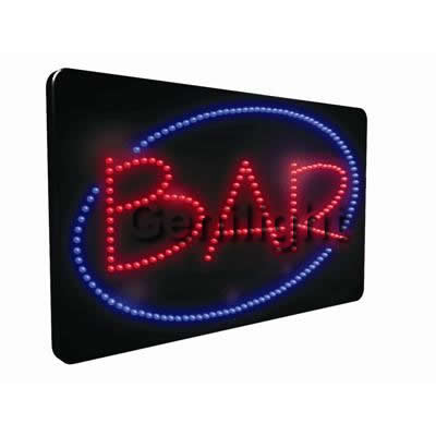 LED Sign With Bar