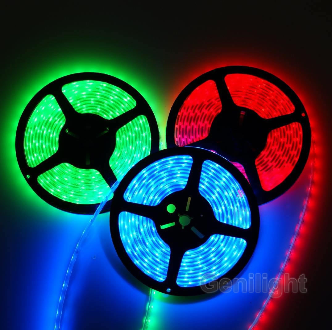 Waterproof RGB LED Flexible Strip with Silicon