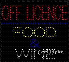 LED Sign with Food and Wine