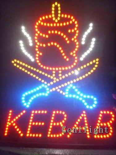 Kebab LED Sign